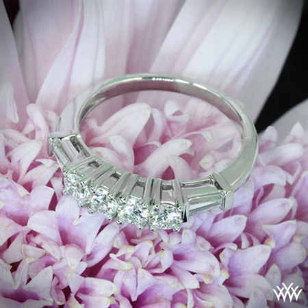 Baguette and Round Diamond Wedding Ring
