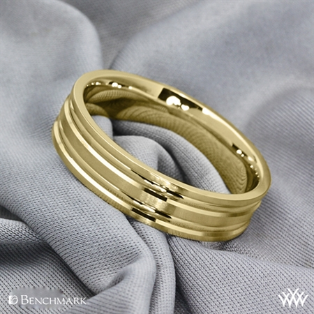 Benchmark Grooved Satin Wedding Ring