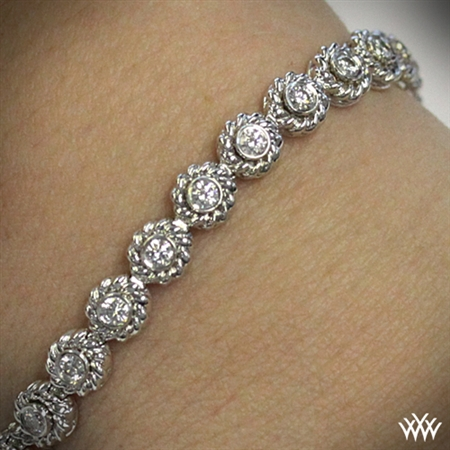 Braided Link Diamond Bracelet