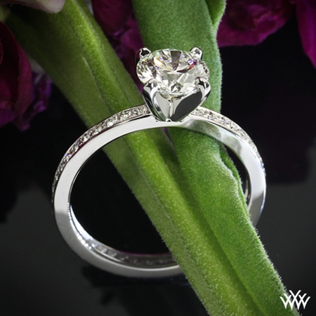'Channel Bead-Set' Diamond Engagement Ring