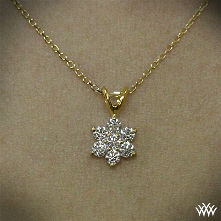 Flower Cluster Diamond Pendant