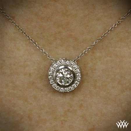 Halo Bezel Diamond Pendant