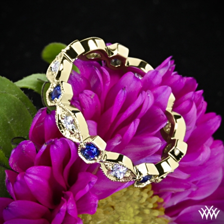 Odyssey Diamond and Blue Sapphire Right Hand Ring