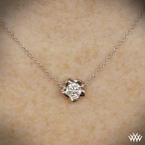 Bellerina diamond pendant setting only 112 on neck view mozeypictures Choice Image