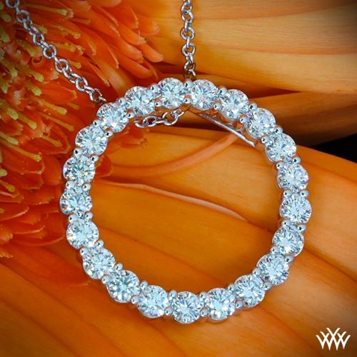 Circle Of Life Pendant Circle of life diamond pendant 702 on neck view audiocablefo