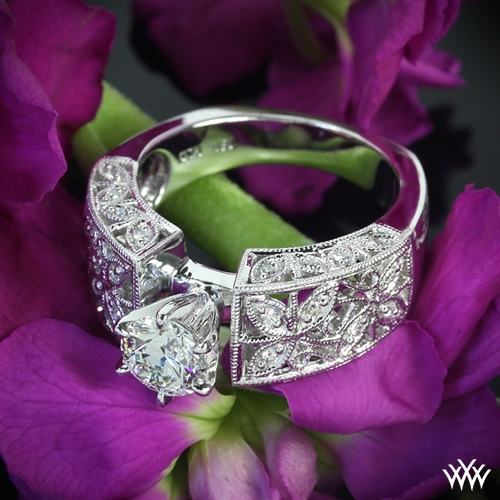 Elegant Petals Diamond Engagement Ring