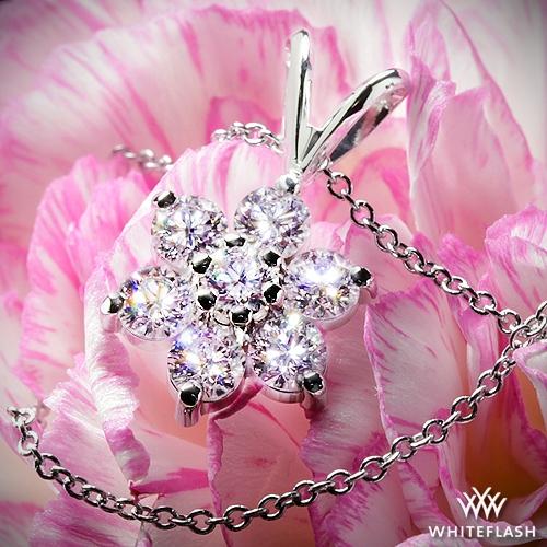 Flower Cluster Diamond Pendant