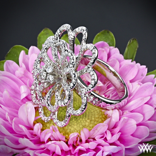 Sparkle Blossom Diamond Right Hand Ring