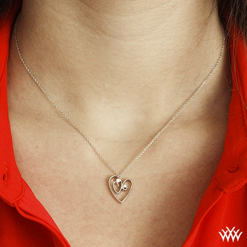 One Heart For Two Diamond Pendant