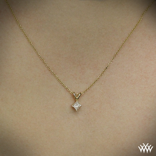 cut and gold necklaces pendants in pendant medium diamond princess