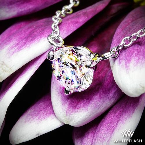 Three Prong Martini Diamond Pendant