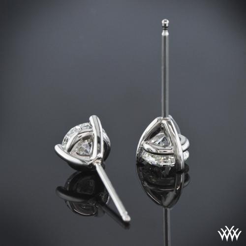 3 Prong Martini Diamond Earrings Setting Only 304