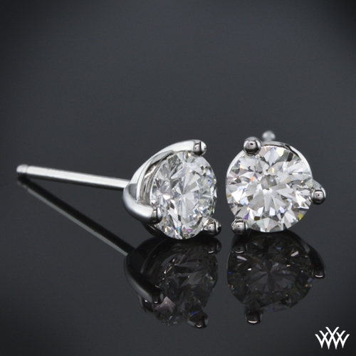 "3 prong ""Martini"" Diamond Earrings"
