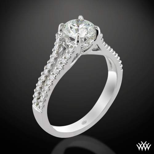 """Allegro in D"" Diamond Engagement Ring"