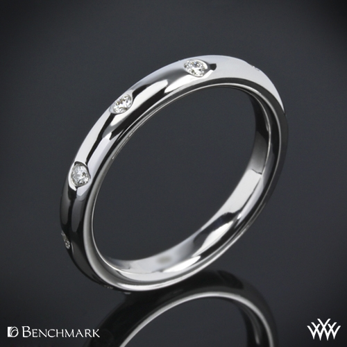 """Scattered"" Diamond Wedding Ring"