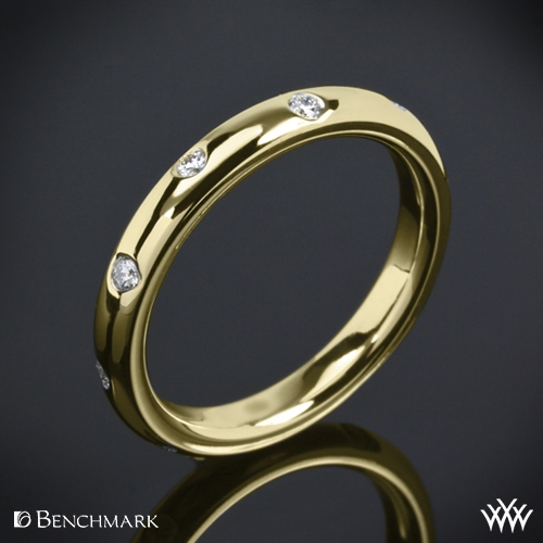 Benchmark 'Scattered' Diamond Wedding Ring