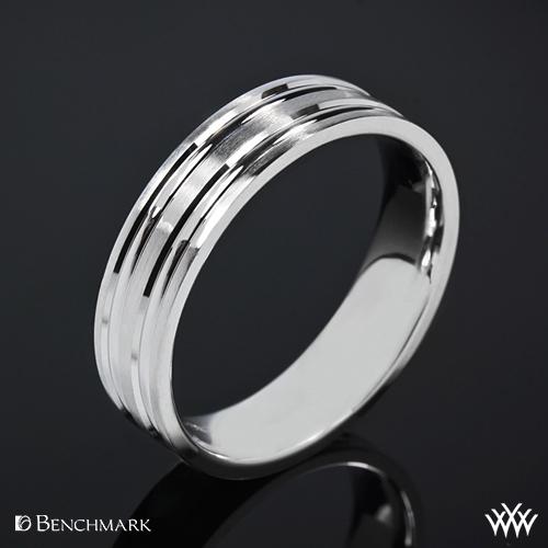 Benchmark Grooved Satin Wedding Ring