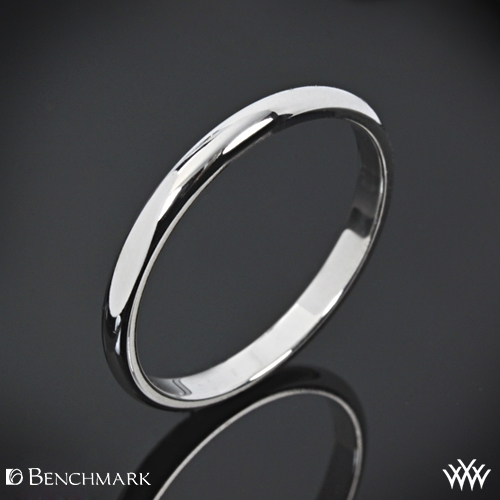 "Benchmark ""Half Round"" Wedding Ring"
