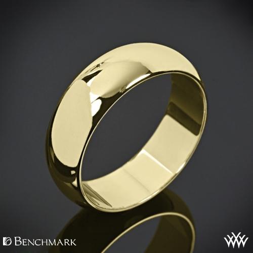 Benchmark Half Round Wedding Ring