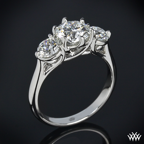 Butterflies 3 Stone Engagement Ring