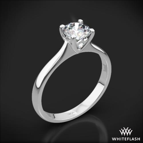 Comfort Fit Surprise Solitaire Engagement Ring