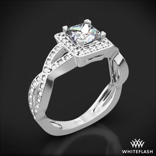 Diamond Braid Diamond Engagement Ring for Princess