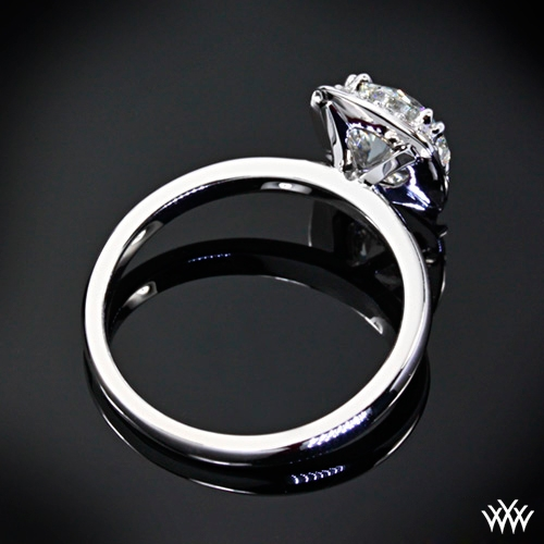 """Guinevere"" Solitaire Engagement Ring Ring Back View"