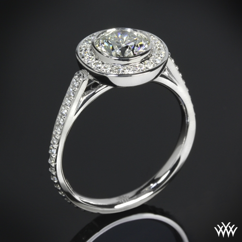 """Halo Bezel"" Diamond Engagement Ring"