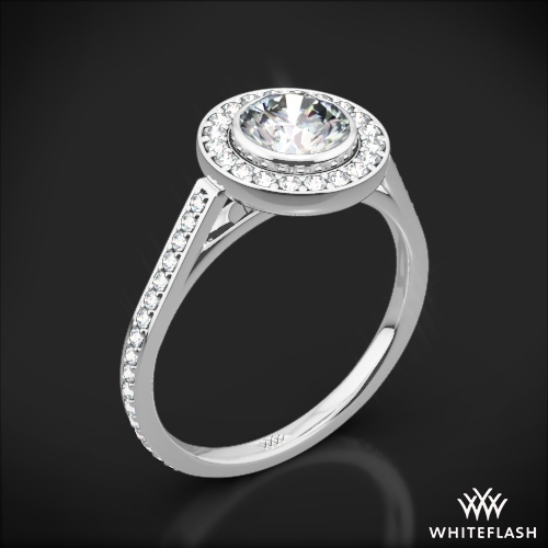 'Halo Bezel' Diamond Engagement Ring