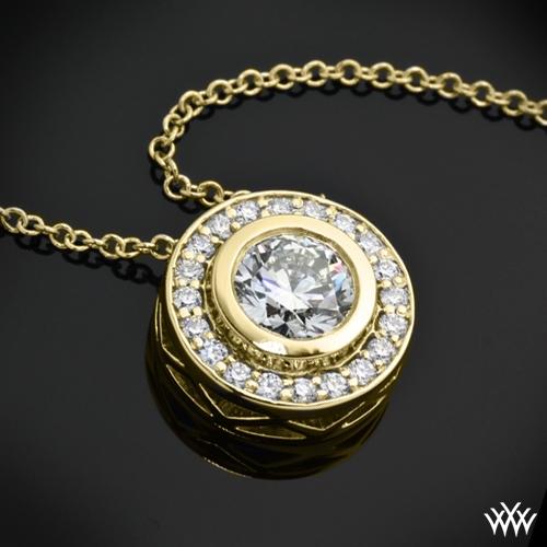 Halo Bezel Diamond Pendant