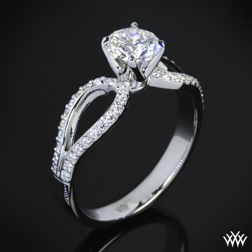 'Infinity' Diamond Engagement Ring