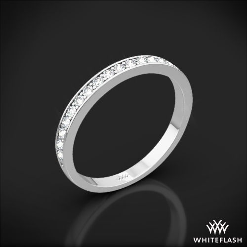 Legato Sleek Line Pave Diamond Wedding Ring