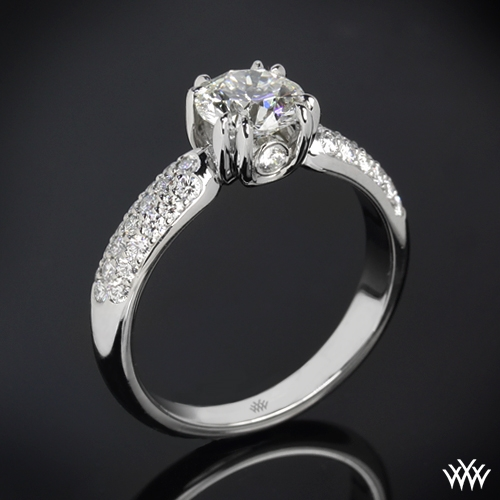 'Rhapsody U-Prong Pave' Diamond Engagement Ring