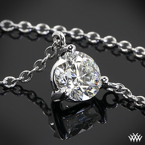 Three-Prong Martini Diamond Pendant