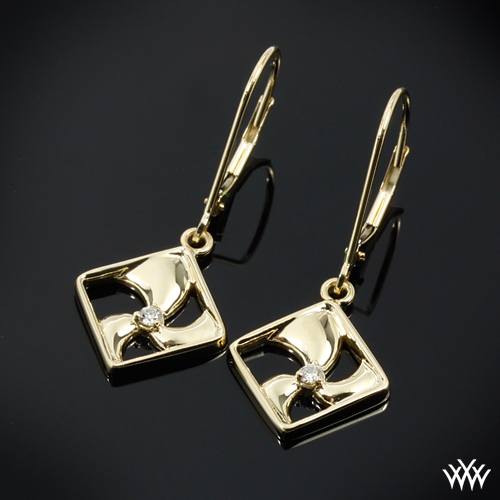 Tides of Change Diamond Charm Earrings