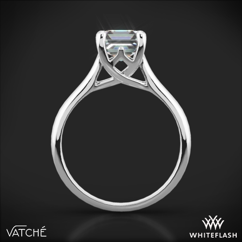 royal crown solitaire engagement ring for princess cut