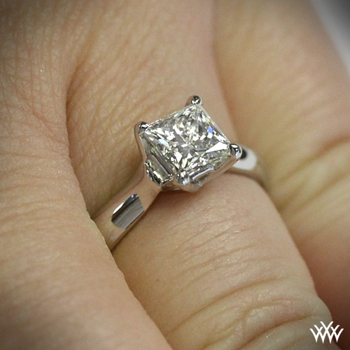 'W-Prong' For Princess Cut Diamond By WF