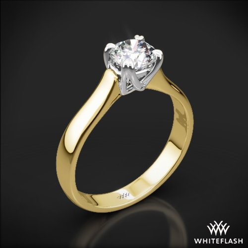 W-Prong Solitaire Engagement Ring