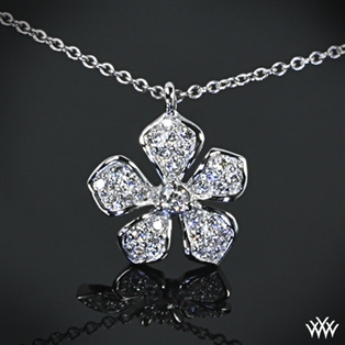 Five Leaf Flower Diamond Pendant