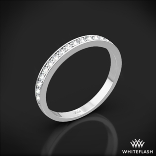 Legato Sleek Line Pave Diamond Wedding Ring
