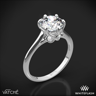 Engagement rings diamond engagement rings at whiteflash vatche 191 swan solitaire engagement ring junglespirit Gallery