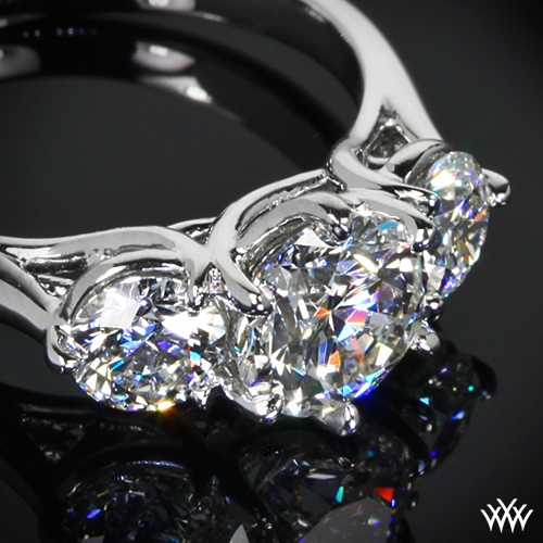 Butterflies 3 Stone Engagement Ring 230