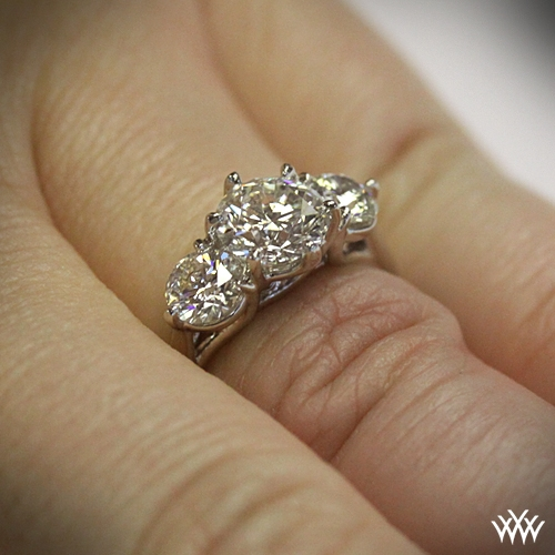 Butterflies 3 Stone Engagement Ring 231