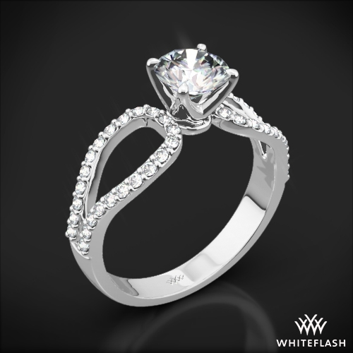 Infinity Diamond Engagement Ring 1