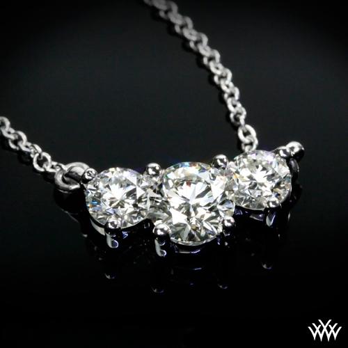 Tandem 3 stone diamond pendant ready set to go 145 zoomed view aloadofball Images