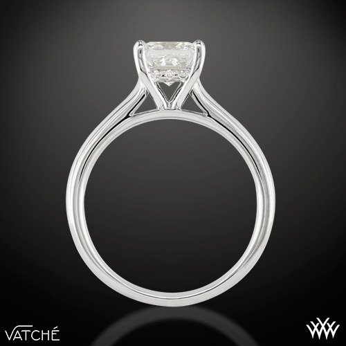 1e58b7dc14b9a 18k White Gold Vatche 188 Caroline Solitaire Engagement Ring for Princess