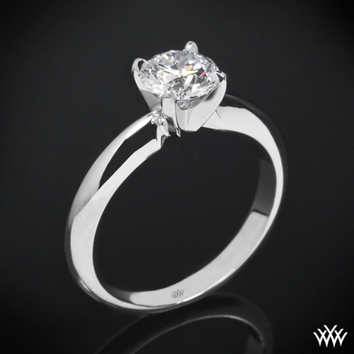 "4 Prong ""Heavy"" Solitaire Engagement Ring"