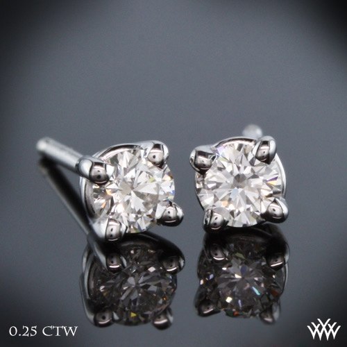 4 Prong Basket Diamond Earrings
