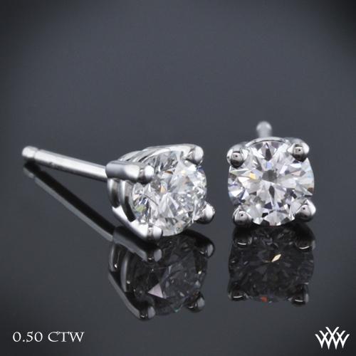 4 Prong Basket Diamond Earrings