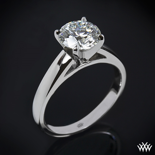 """Cathedral"" Solitaire Engagement Ring"